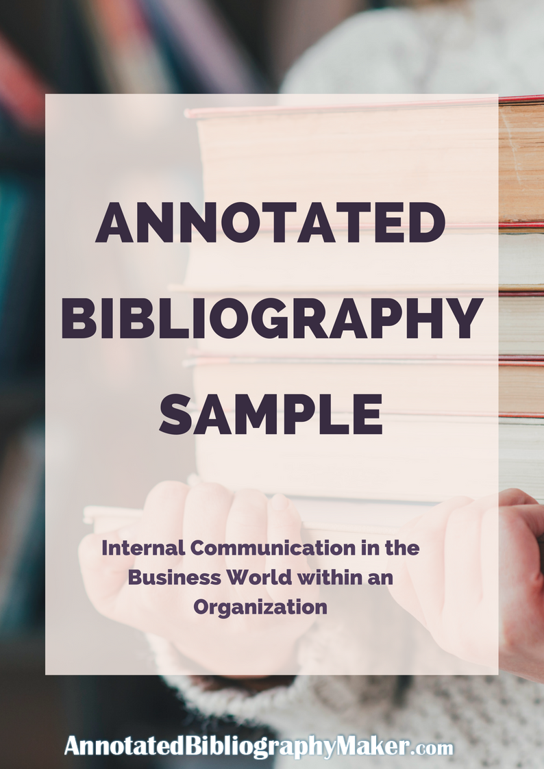 annotated bibliography maker sample