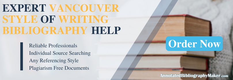 vancouver style of writing bibliography help