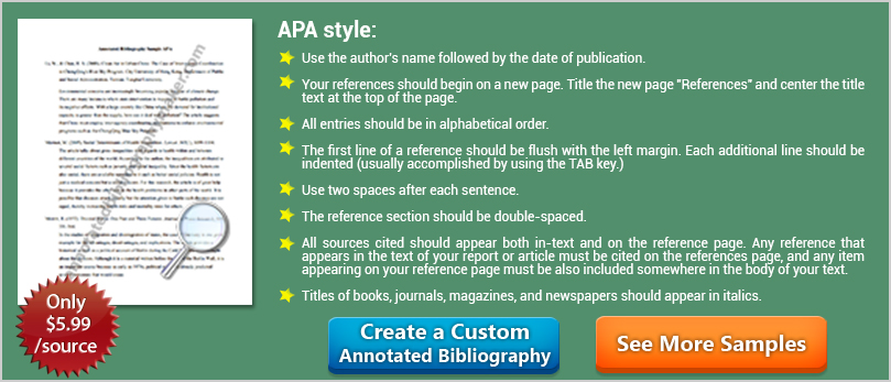 Does apa annotated bibliography have to be in alphabetical order