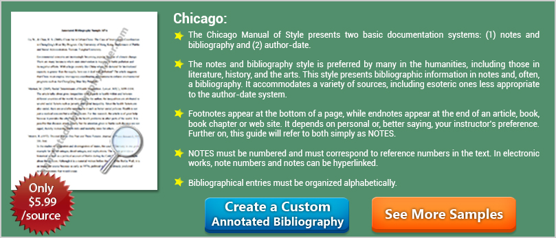 chicago format for annotated bibliography