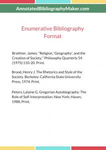 enumerative bibliography example