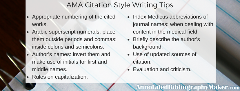 ama citation style writing tips