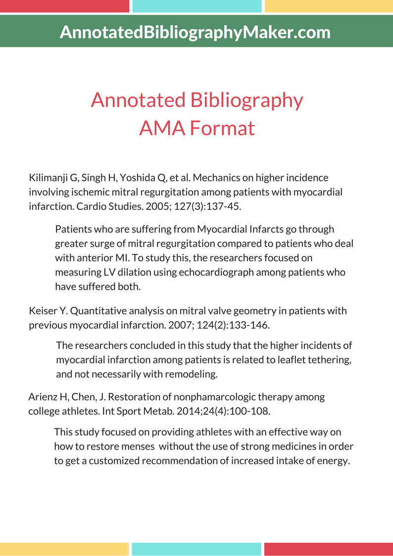 example of annotated bibliography in apa format Your perfect annotated bibliography has to be produced in exactly the right way for the format of the paper that you are producing and therefore many students try to find what is known as an bibliography generator to create these sections for them automatically.