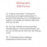 Bibliography IEEE Format sample