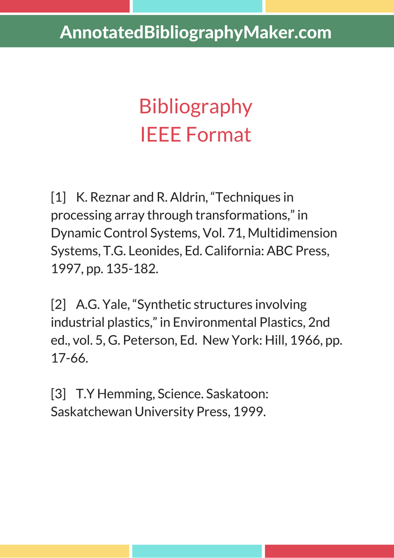 Annotated bibliography makers ijig best research for Ieee definition