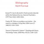 Bibliography NLM Format sample