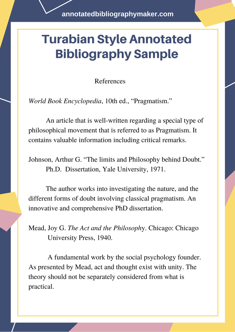 Annotated Bibliographies: Introduction