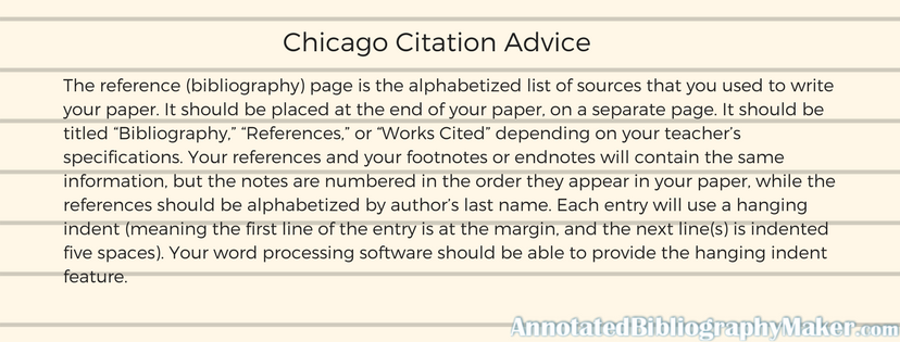 chicago citation advice