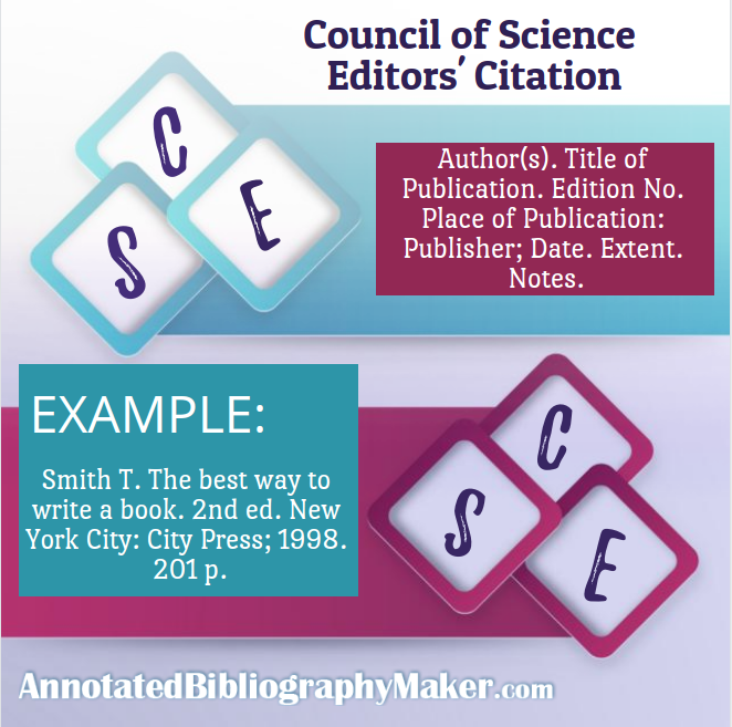council of science editors format example