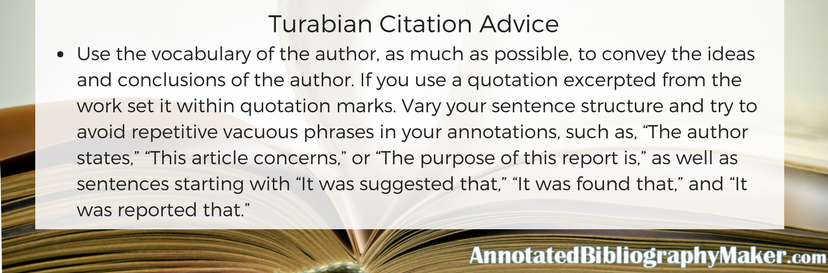 turabian citation advice
