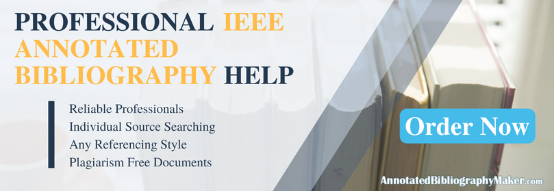 writing ieee annotated bibliography format