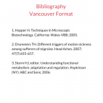 Bibliography Vancouver Format Sample