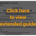 vancouver bibliography quick reference guide