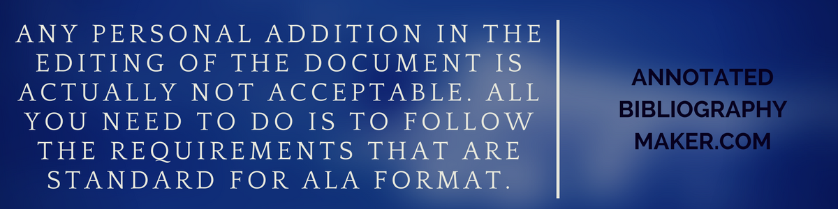 bibliography ala format tips