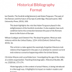 historical bibliography example