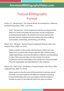 textual bibliography format sample