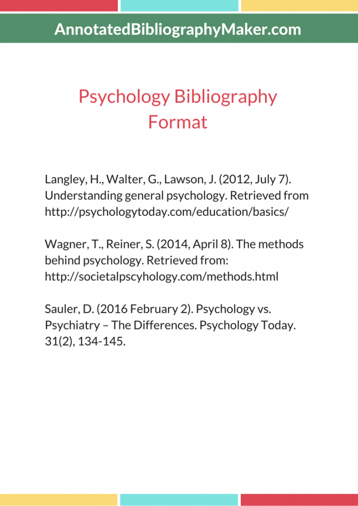 psychology annotated bibliography sample