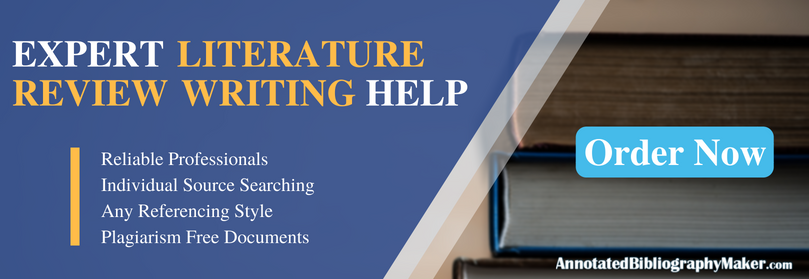 help writing literature review in research