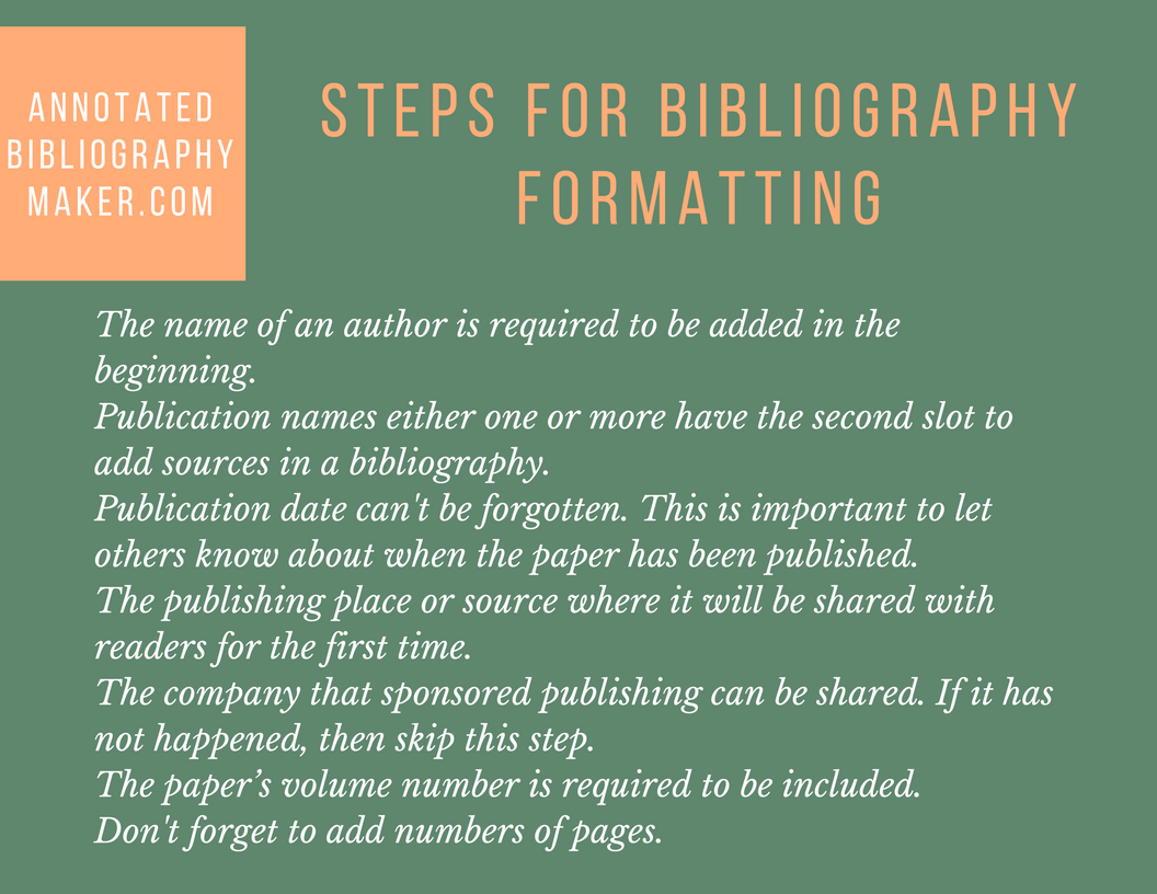 how to format bibliography correctly