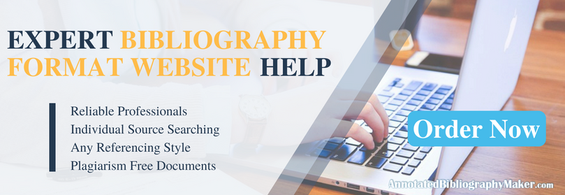 bibliography format website service