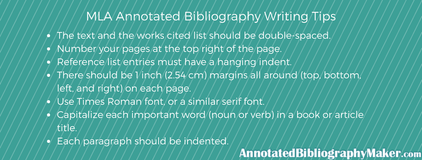mla annotated bibliography writing tips