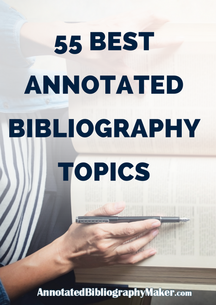 annotated bibliography topics