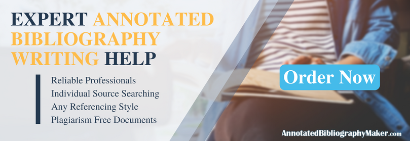 get professional annotated bibliography topics