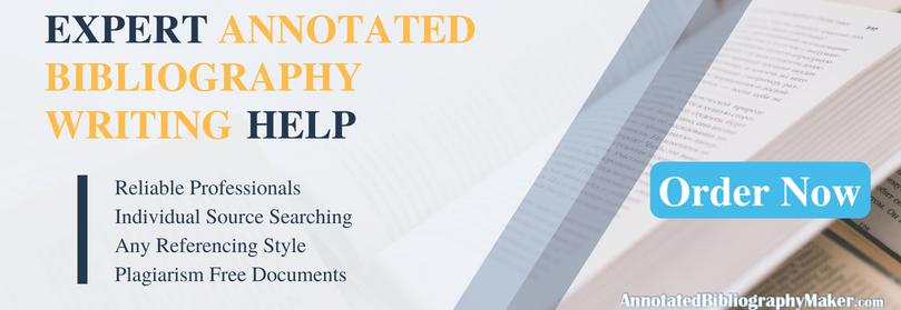 get sample annotated bibliography mla