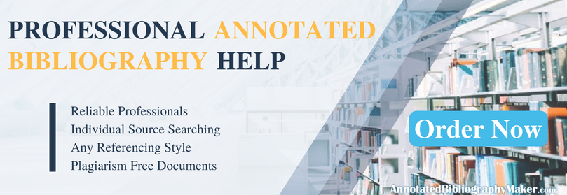 professional examples of annotated bibliography mla