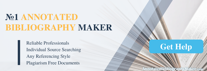 reliable annotated bibliography maker